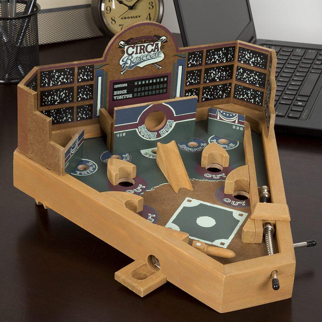 buy baseball shape wooden pinball machine